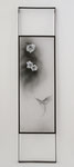 TSUBAKI#1, 2016/ 151.2cm×36.3cm×5cm/ Kiln cast, painted, Japanese Ink, Metal frame