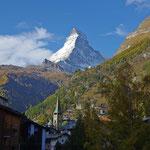 Blick auf Matterhorn von Zermatt aus