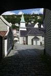 unterwegs in Bergen - St. Jørgen, ehemaliges Leprakrankenhaus, jetzt mit Lepramuseum