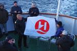am nächsten Tag überqueren wir morgens um 07:07:07 den Polarkreis