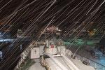 der Tag endet am Abend in Skjervøy mit Schneegestöber