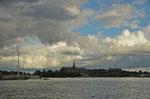 Blick zum Nordischen Museum und Vasamuseum