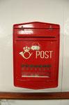 Postkasten auf der MS Lofoten