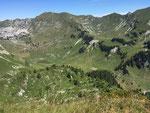 Kessel mit Blick auf die Alp Walop