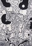 「philosophia」 アクリル・他/木製パネル 36.4x25.7x2cm