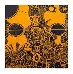 「 壺中日月長(こちゅうにちげつながし)」素材アクリル・他/木製パネル  30×30×2cm