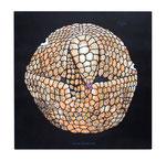 「アルマジロリ」  アクリル・他/木製パネル 60.6x60.6x2.5cm