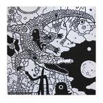 「 邂逅(かいこう)」 素材アクリル・他/木製パネル  30×30×2cm