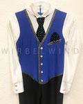 Anzug mit Westenoptik und Krawatte / Detail / Gr. 134 - 140