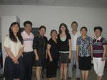 Ich mit meinen international Department Lehrern