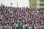 Fahne und Nationalhymne....