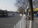 auf dem Weg von der U-Bahnstation zu den Hutongs