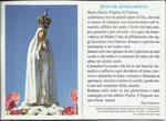 fronte e retro immaginetta ATTO DI AFFIDAMENTO A MARIA