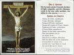 fronte e retro immaginetta ANIMA DI CRISTO