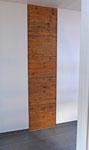Wand verputzt in Kombination mit altem Holz