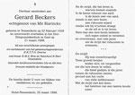 Rouwprentje van Gerard Beckers uit de Aardstraat.
