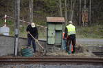 Auch entlang der Ladestraße wurde im Bahnhof Brand-Erbisdorf in Vorbereitung des 2. Bergstadtexpress Ordnung geschaffen 22. April 2017. Foto: Archiv Bergstadtexpress