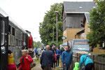 Stets großer Andrang herrschte auch auf dem Bahnhof Großvoigtsberg, so wie hier am 24. Juni 2018. Foto: Archiv Bergstadtexpress