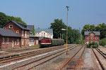 Mit dem 1. Bergstadtexpress fuhren im Juni 2016 erstmals seit 18 Jahren wieder Reisezüge nach Brand-Erbisdorf, wo am 26. Juni 2016 dieses Foto entstand. Foto: Markus Bergelt
