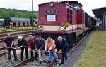 Bereits am 23.6. wurde der Streckenabschnitt Nossen – Starbach – Ziegenhain der 1998 im Regelbetrieb eingestellten Nebenbahn Nossen – Lommatzsch – Riesa wiedereröffnet. Dazu gab es im Bahnhof Nossen einen feierlichen Banddurchschnitt. Foto: Felix Bochmann