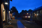 Abendliches Umsetzen im Bahnhof Brand-Erbisdorf, 23. Juni 2018. Foto: Archiv Bergstadtexpress