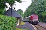 Einfahrt in den Haltepunkt Zug aus Richtung Brand-Erbisdorf kommend, 24. Juni 2018. Foto: Felix Bochmann