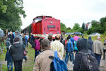 Der Fahrgastzuspruch im Bahnhof Großvoigtsberg war wirklich stets enorm, hier gesehen am Sonntag, 24. Juni 2018. Foto: Archiv Bergstadtexpress