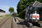 Zur deutlichen Aufwertung des Haltepunktes Zug wurde hier im Mai 2017 durch die Enthusiasten des Bergstadtexpress die Bahnsteigkante neu gebaut, hier eine Aufnahme vom 22. Mai 2017. Foto: Archiv Bergstadtexpress