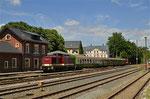 Der 2. Bergstadtexpress 2017 hat sein Fahrtziel, den heutigen Endbahnhof Brand-Erbisdorf erreicht. Foto: Henry Mehnert