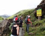 Quelques explications données aux abords du Parc national des Pyrénées