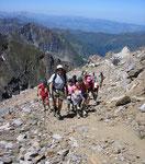 Sur le sentier du pic du Midi de Bigorre 2877 m