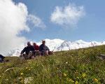 Aiguillette des Houches 2285 m, en face de la chaîne du mont Blanc