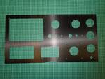 Cuadro relojes náutica acero vinilado carbono