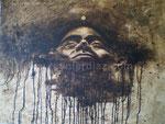 Der Peso, 2012. Collage, Acryl auf Leinwand, 100 x 80 cm