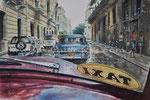 Pa' la Habana, 2014. Aquarell auf Leinwand, 50 x 37 cm