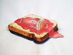 Pan con timba. Daily Bread, 2012. Aquarell auf Papier, 76 x 56 cm