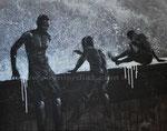 Tropische Taufe, 2012. Acryl auf Leinwand, 100 x 80 cm