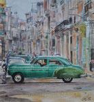 Havana ride, 2014. Aquarell auf Papier, 61 x 42 cm