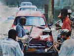 Havana Blues, 2014. Aquarell auf Papier, 65 x 50 cm