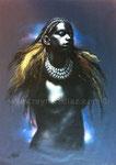 Black moon, 2005. Öl auf Papier, 70 x 50 cm