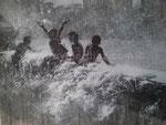 Wo alles endet, 2012. Acryl auf Leinwand, 100 x 80 cm