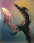 Bond, 2019, Öl auf Leinwand, 100 x 80 cm