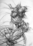 Das Fahrrad, 1999. Grafit auf  Zeichenkarton, 70 x 50 cm