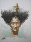 Conciencia ausente, 2006. Aquarell auf Papier, 23 x 17 cm