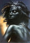 Inocencia, 2005. Öl auf Papier, 70 x 50 cm
