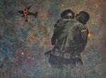 Das Wiedersehen, 2012. Collage. Acryl auf Leinwand, 160 120 cm