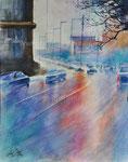 Ohne Titel, 2015. Aquarell auf Papier, 40,5  x 32,5 cm