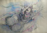 Torso, 2009. Mischtechnik auf Papier, 60 x 50 cm