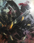 Orishas I, 2019. Öl auf leinwand, 100 x 80 cm
