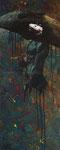Erinnerungen, 2012. Collage, Acryl auf Leinwand, 140 x 57 cm